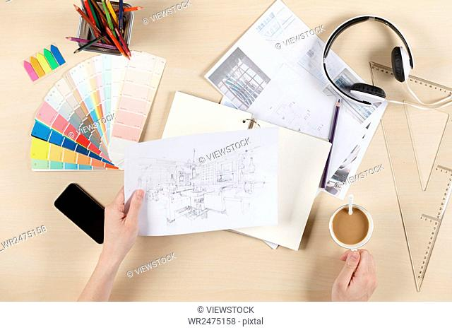 Work feature of fashion designer