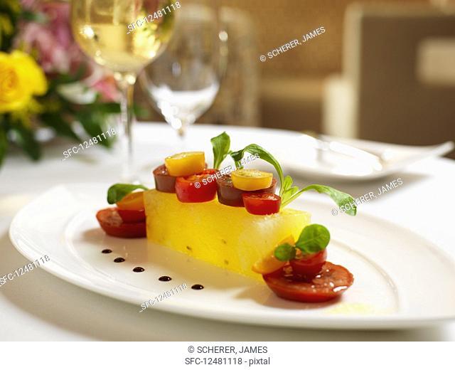 Tomato and melon terrine