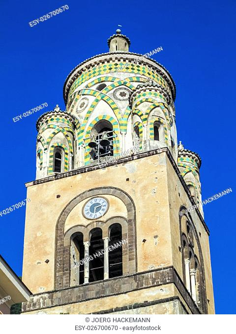 Saint Andrew cathedral or Cattedrale di S.Andrea in Amalfi covered with Byzantine mosaics, Amalfi, Sorrentine Peninsula of Italy