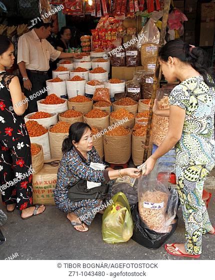 Vietnam, Ho Chi Minh City, Saigon, Cholon district, Binh Tay Market