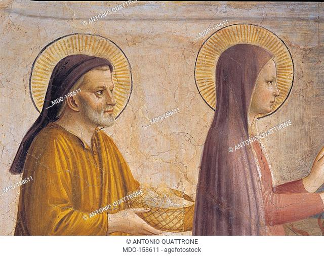 The Presentation in the Temple, by Guido di Pietro (Piero) known as Beato Angelico, 1438 - 1446 about, 15th Century, curved fresco, cm 158 x 136