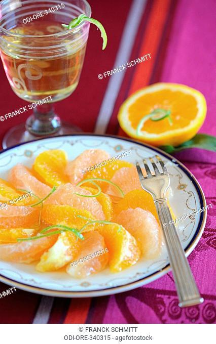 Citrus fruit salad with Sauternes