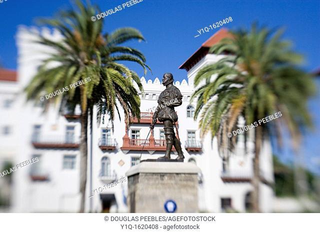 Don Pedro Menedez de Aviles founder of St Augustine in 1565, Florida, USA