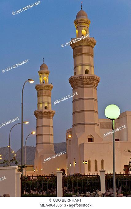 Arabia, Arabian peninsula, Sultanate of Oman, peninsula Musandam, Khasab, sultan Qaboos Moschee