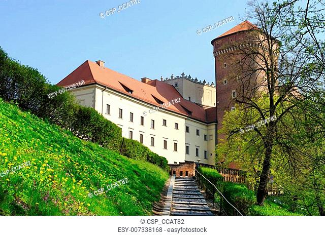 Patch to Wawel castle in Krakow, Poland