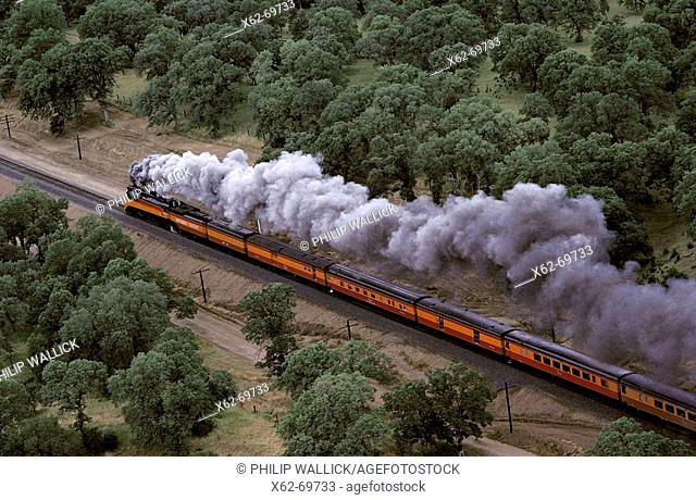 Southern Pacific vintage locomotive. California. USA