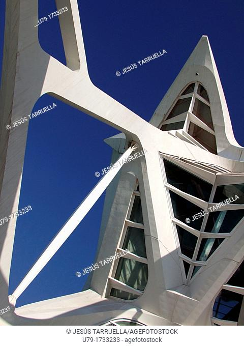 City of Arts and Sciences by S  Calatrava, Valencia, Comunidad Valenciana, Spain, Europe