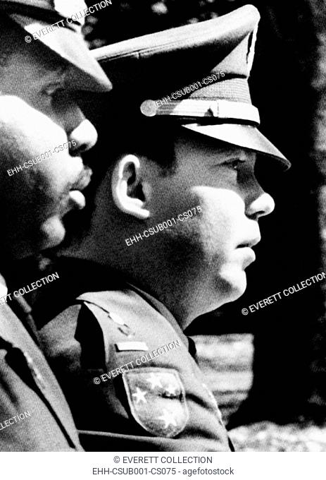 Lt. William L. Calley, Jr. escorted to the Fort Benning stockade on March 31, 1971. He had just heard the jury pronounce a life sentence term