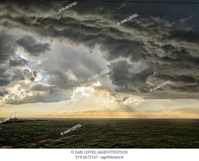 Super Cell Storm Over Texas