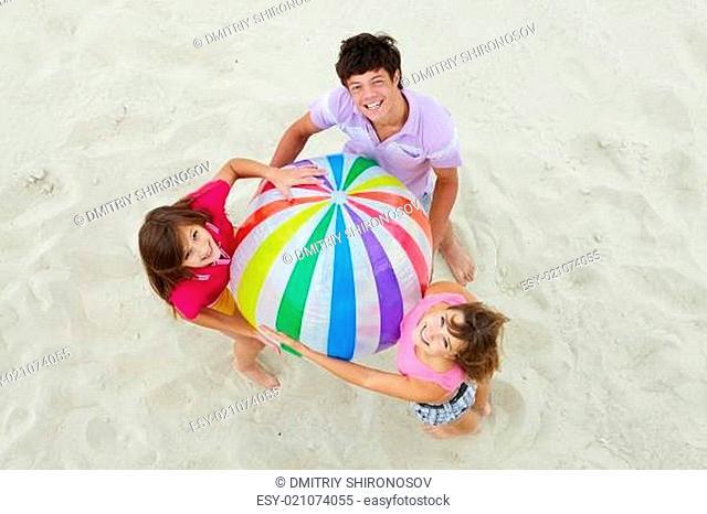 Teens with ball