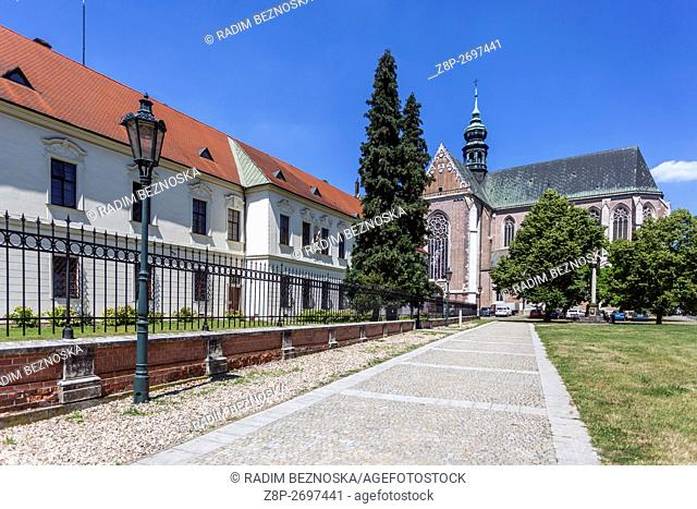 Augustinian Monastery and the Abbey. Is located here Mendel Museum in Brno, South Moravia, Czech Republic