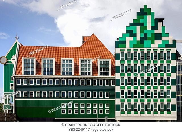 Colourful Buildings, Zaandam, Amsterdam, Holland