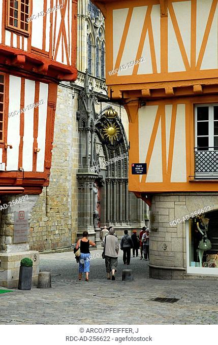 Timber-framed houses Place Henri IV Vannes Morbihan Brittany France