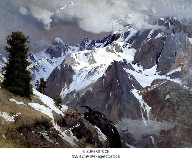 Altai Mountains by Grigory Ivanovich Gurkin, oil on canvas, 1906, 1870-1937, Russia, Tomsk, Tomsk Regional Arts Museum