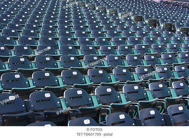Empty bleacher seats