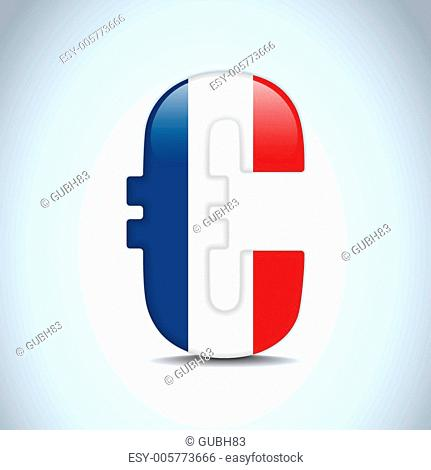 Euro Symbol with France Flag