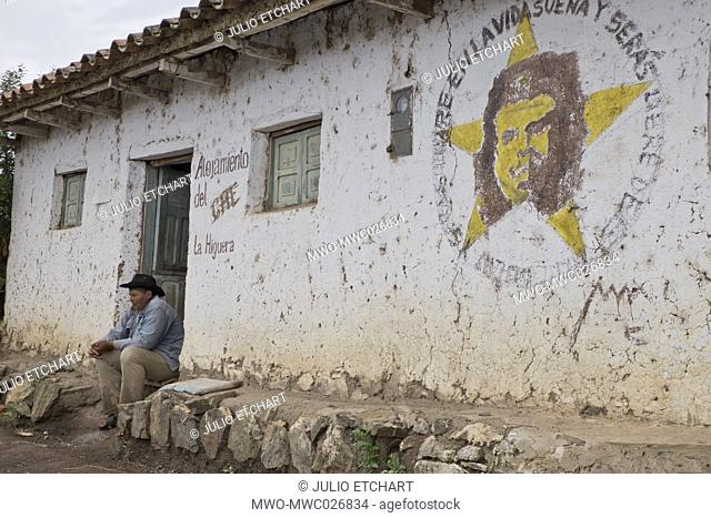 Local farmer in La Higuera, Bolivia, where Che Guevara was killed after being taken prisoner 50 years ago on 8 October 1967