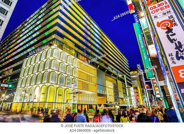 Japan, Tokyo City, Ginza area, Chuo Avenue