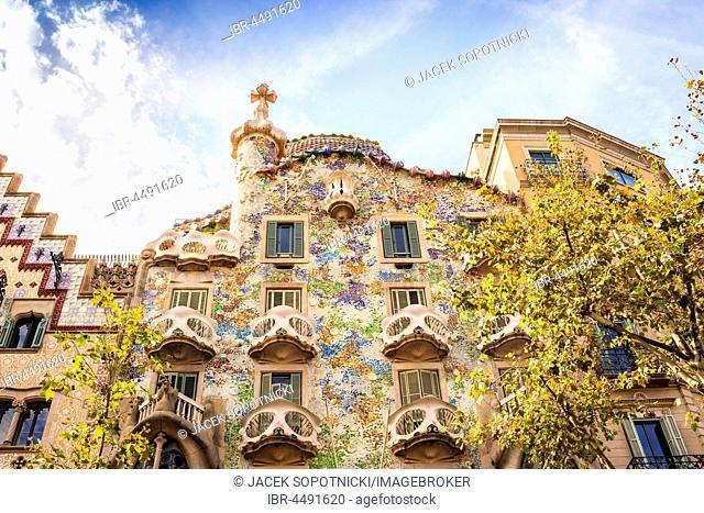 Casa Batllo by Antoni Gaudi, Barcelona, Catalonia, Spain