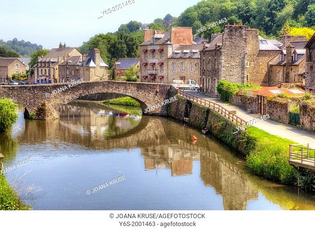 old port of Dinan, Brittany, France