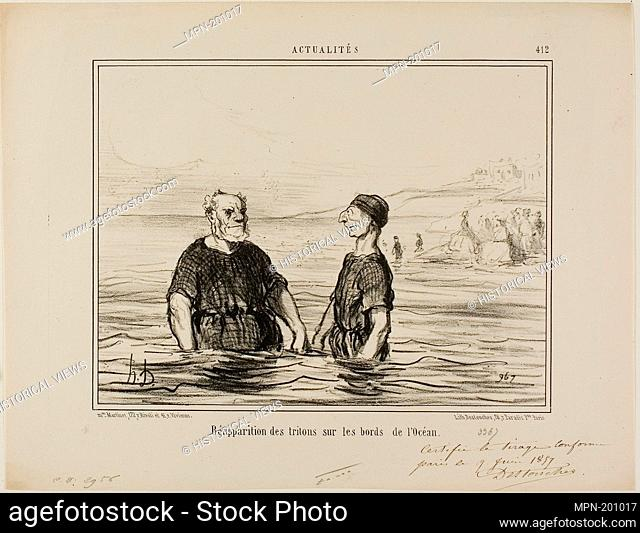The Reappearance of the Tritons of the Sea, plate 412 from Actualités - 1857 - Honoré Victorin Daumier French, 1808-1879 - Artist: Honoré-Victorin Daumier
