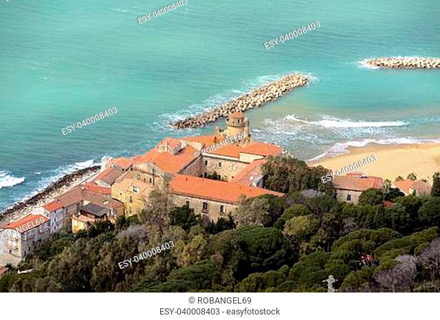 veduta panoramica di Santa Maria di Castellabate