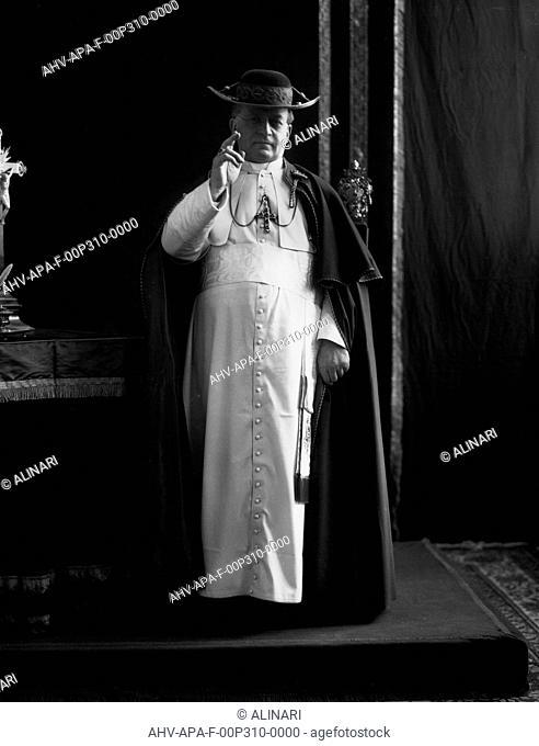 Portrait of Pope Pius XI (born Ambrogio Damiano Achille Ratti 1857-1939), shot 1924 ca. by Alinari