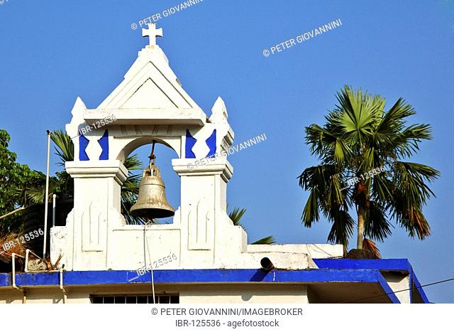 India, Goa, Panjim, clocktower of the church Our Lady of Immaculate Conception