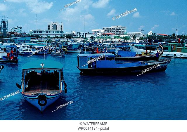 Harbour of Male, Capitol of Maldives, Indian Ocean, Maldives Island