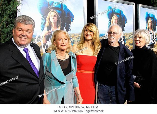Premiere of Fox Searchlight's 'Wild' at AMPAS Samuel Goldwyn Theater - Red Carpet Arrivals Featuring: Robert Charles Hunter,Diane Ladd,Laura Dern,Bruce Dern