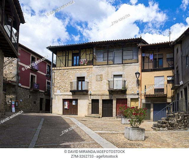 Arquitectura tradicional. Miranda del Castañar. Sierra de Francia. Salamanca. Castilla León. España