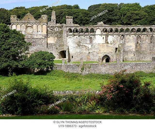 The ruin of the Bishop's Palace, St Davids, Pembrokeshire, Wales, UK