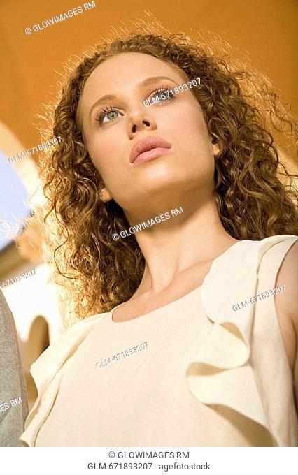 Close-up of a woman thinking, Biltmore Hotel, Coral Gables, Florida, USA