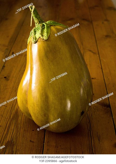 aubergine or eggplant. Unusual colour for this vegetable in it's raw state