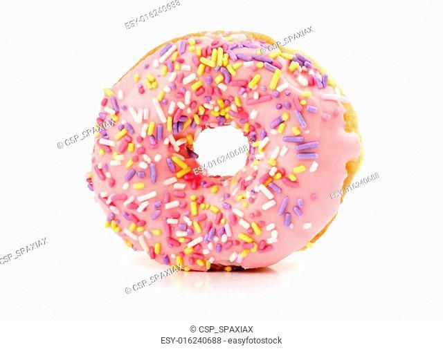 strawberry flavoured donut