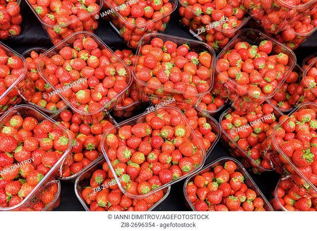 Fresh strawberries on sale