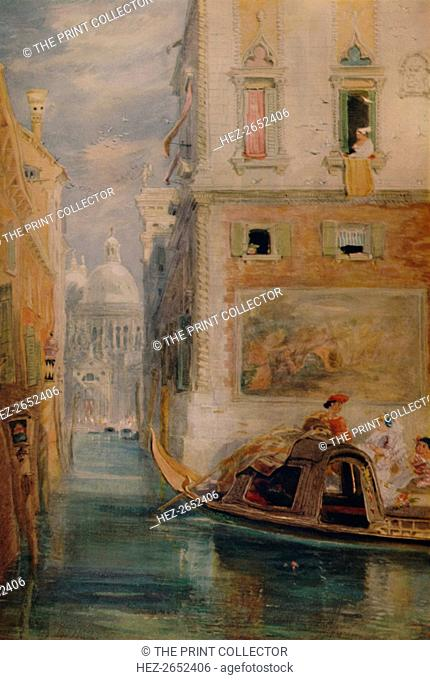 'The Gondola, Venice',1865, (1935). From A Catalogue of the Pictures and Drawings in the Collection of Frederick John Nettleford, Volume II