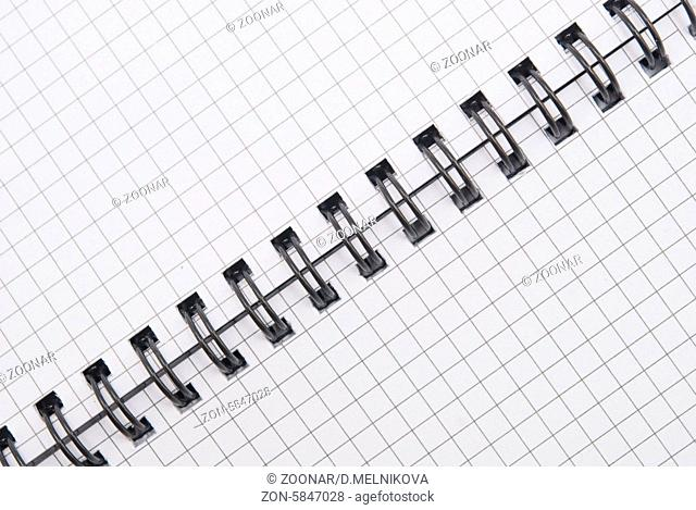 close up view of spiral notebook