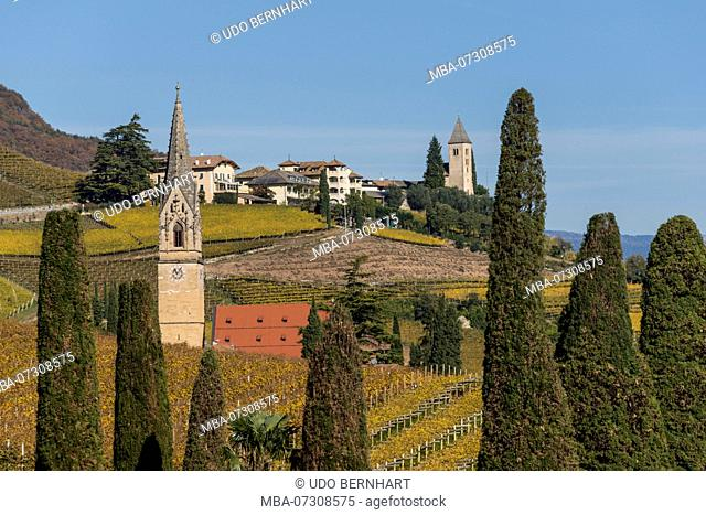 Village church St. Julitta and St. Quirikus, Tramin, South Tyrolean Wine Route, South Tyrol, Italy