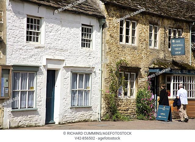 High Street, Lacock Village, Cotswolds District, Wiltshire County, England