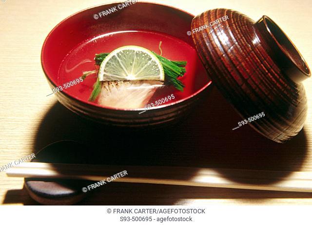A Kaiseki dish. Kyoto city. Kyoto. Japan