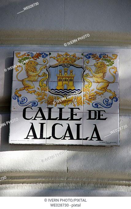 Calle de Alcalá sign, Madrid. Spain