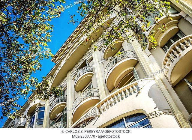 Art Deco architecture style in Gracia district in Barcelona Catalonia Spain