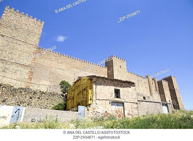 Castle in Siguenza is a medieval village in Guadalajara Castile La Mancha Spain
