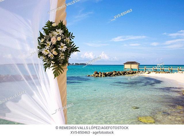Bahamas, New Providence Island, Nassau Royal Sandals Bahamian Hotel Beach