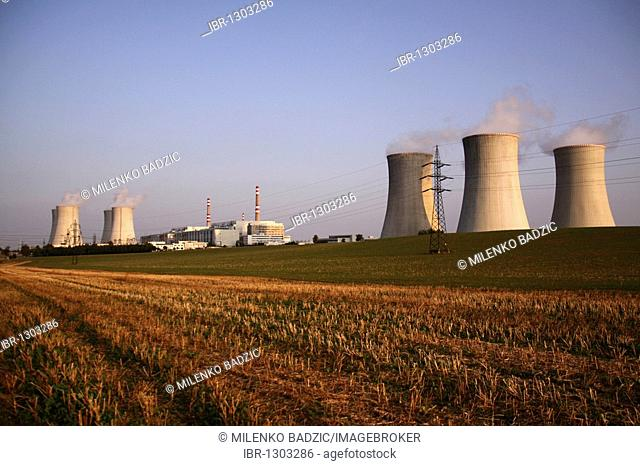 Dukovany Nuclear Power Station of the CEZ Group, South Moravia, Czech Republic, Europe