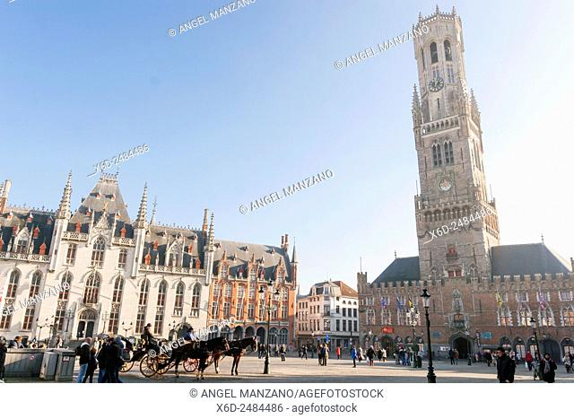 The belfry or Belfort of Bruges, Belgium