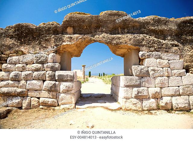 door of Empuries ancient city