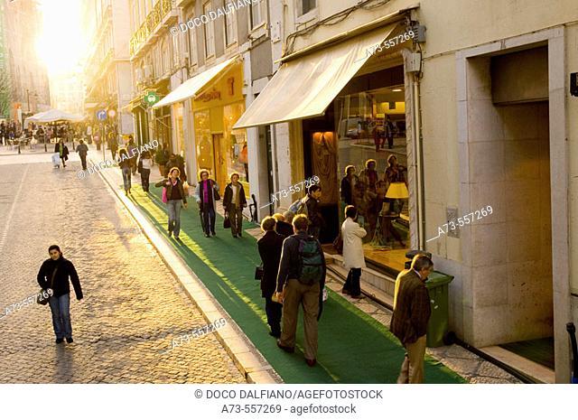 Rua Garret. Lisbon. Portugal