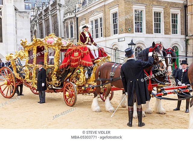 England, London, The Lord Mayor's Show, Lord Mayor's State Coach